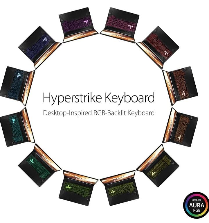asus tuf fx505dt hyperstrike keyboard